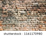 burnt brick wall. | Shutterstock . vector #1161170980