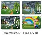 fondo,chico,dibujos animados,niños,clima,ropa,nube,nublado,frío,campo,aguacero,medio ambiente,granja,previsión,chica