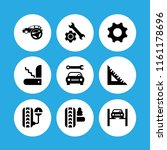 9 wrench icons in vector set.... | Shutterstock .eps vector #1161178696