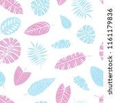 seamless tropical pattern of...   Shutterstock . vector #1161179836