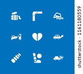 9 damage icons in vector set.... | Shutterstock .eps vector #1161180559