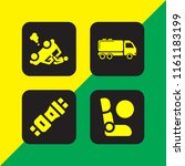 transport icon. 4 transport set ... | Shutterstock .eps vector #1161183199