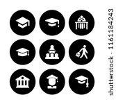 academic icon. 9 academic set...   Shutterstock .eps vector #1161184243