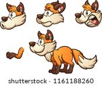 cartoon fox with different... | Shutterstock .eps vector #1161188260