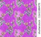 bright summer flowers  tulip... | Shutterstock . vector #1161188470