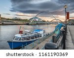 looking down the river tyne in...   Shutterstock . vector #1161190369
