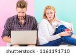 feeling lonely near him. woman... | Shutterstock . vector #1161191710