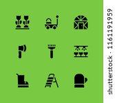 shovel icon. 9 shovel set with... | Shutterstock .eps vector #1161191959
