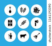 farmland icon. 9 farmland set... | Shutterstock .eps vector #1161193390