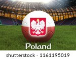 poland football team ball on... | Shutterstock . vector #1161195019