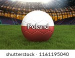 poland football team ball on... | Shutterstock . vector #1161195040