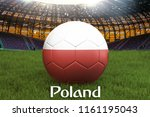 poland football team ball on... | Shutterstock . vector #1161195043