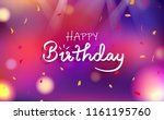 happy birthday card ... | Shutterstock .eps vector #1161195760