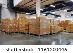 industrial warehouse interior... | Shutterstock . vector #1161200446