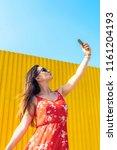 self portrait of beautiful... | Shutterstock . vector #1161204193