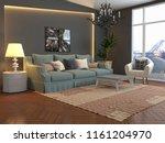 interior of the living room. 3d ... | Shutterstock . vector #1161204970