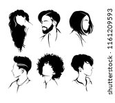set of hairstyles. collection... | Shutterstock .eps vector #1161209593