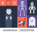 halloween scary creatures ... | Shutterstock .eps vector #1161210766
