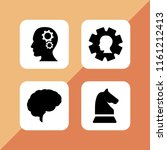 4 intelligence icons in vector... | Shutterstock .eps vector #1161212413