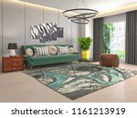 interior of the living room. 3d ... | Shutterstock . vector #1161213919