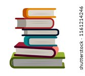 stack of books simple flat... | Shutterstock .eps vector #1161214246