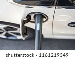 electric vehicle when charging... | Shutterstock . vector #1161219349
