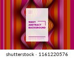 distortion of stripes. abstract ... | Shutterstock .eps vector #1161220576