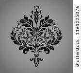 damask graphic ornament. floral ... | Shutterstock .eps vector #1161225076