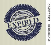 blue expired rubber grunge...   Shutterstock .eps vector #1161226930