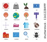 set of 16 icons such as bug ...