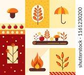 vector set of autumn symbols... | Shutterstock .eps vector #1161230200