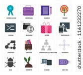 set of 16 icons such as seo tag ...