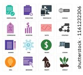 set of 16 icons such as sprout  ...
