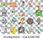 set of 20 transparent icons...   Shutterstock .eps vector #1161236740
