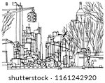 Scene Street Illustration. Han...