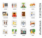 set of 16 icons such as drunk ...