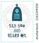 colorful halloween vector card. ... | Shutterstock .eps vector #1161249256