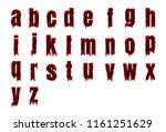 halloween alphabet set from... | Shutterstock .eps vector #1161251629