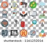 set of 20 transparent icons...   Shutterstock .eps vector #1161252016
