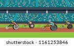 wheelchair race with people    Shutterstock .eps vector #1161253846