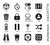 set of 16 icons such as menu ...