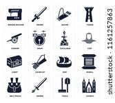 set of 16 icons such as church  ...