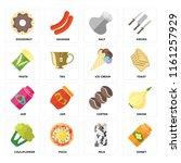 set of 16 icons such as honey ...