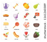 set of 16 icons such as... | Shutterstock .eps vector #1161260389