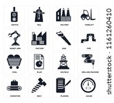 set of 16 icons such as gauge ...
