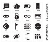 set of 16 icons such as archive ...