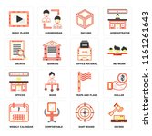 set of 16 icons such as decree  ...