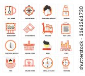 set of 16 icons such as watches ...