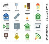 set of 16 icons such as wifi ... | Shutterstock .eps vector #1161261946