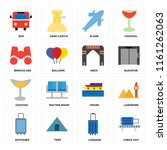 set of 16 icons such as check...